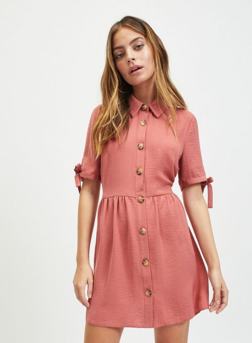 Petite Pink Shirt Dress