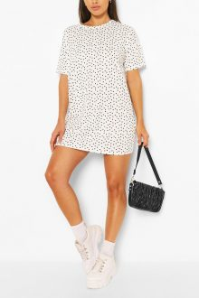 Petite Polkadot Shirt Dress