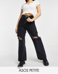 Petite Dad Jeans Ripped