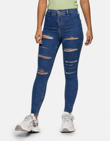 Petite Ripped Jeans Donkerblauw
